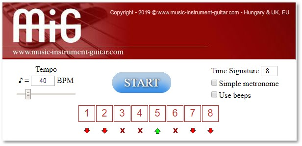 Penzes Guitar School - Predefined metronome beat patterns